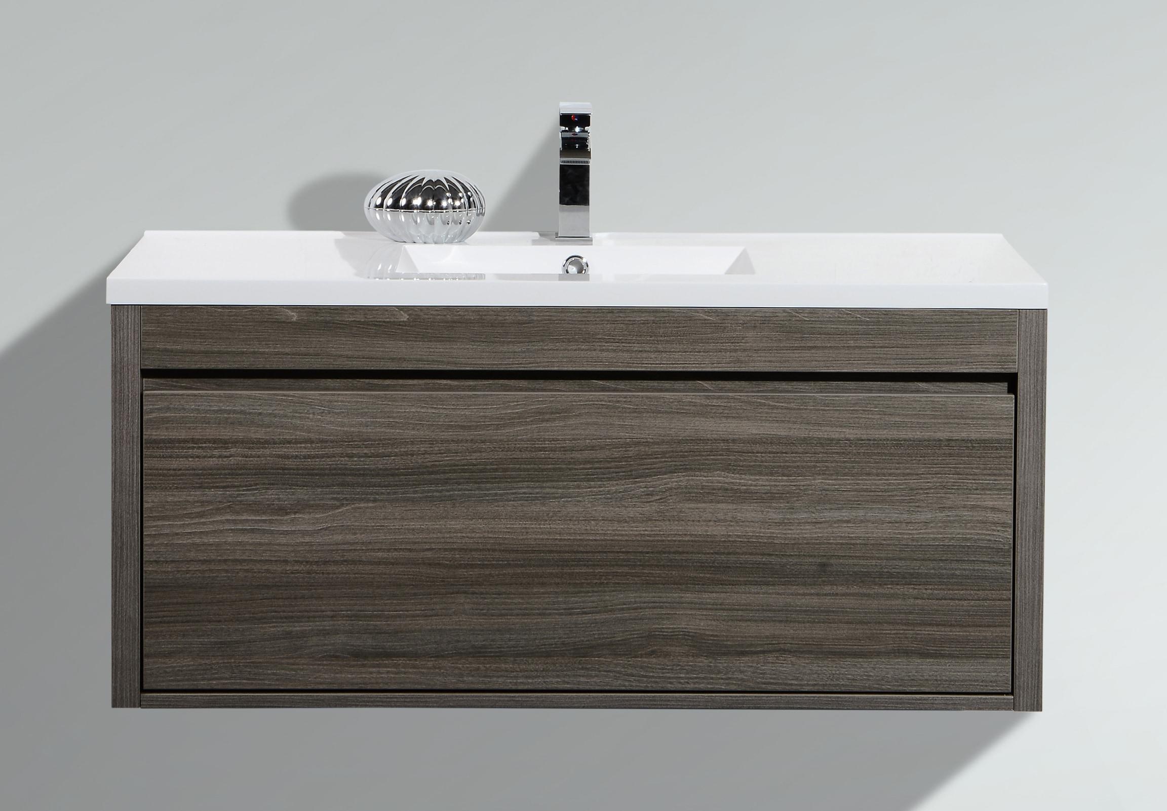 Bathroom Sinks Grey golden elite cabinets bathroom vanities - labrador maple grey