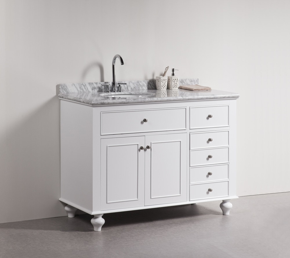 Golden Elite Cabinets Bathroom Vanities - Woodland White Traditional ...