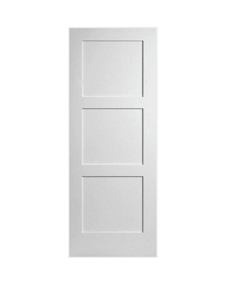 3 Panel Interior Doors : Viewpoint doors primed equal panel shaker mdf