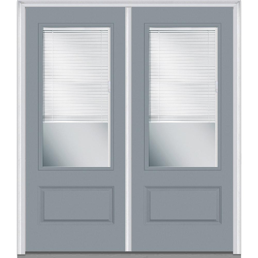 Doorbuild internal blinds collection fiberglass smooth for Prehung entry door with storm door