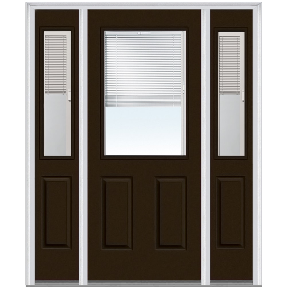 DoorBuild Internal Blinds Collection Steel Prehung Door Brown 68 5 X