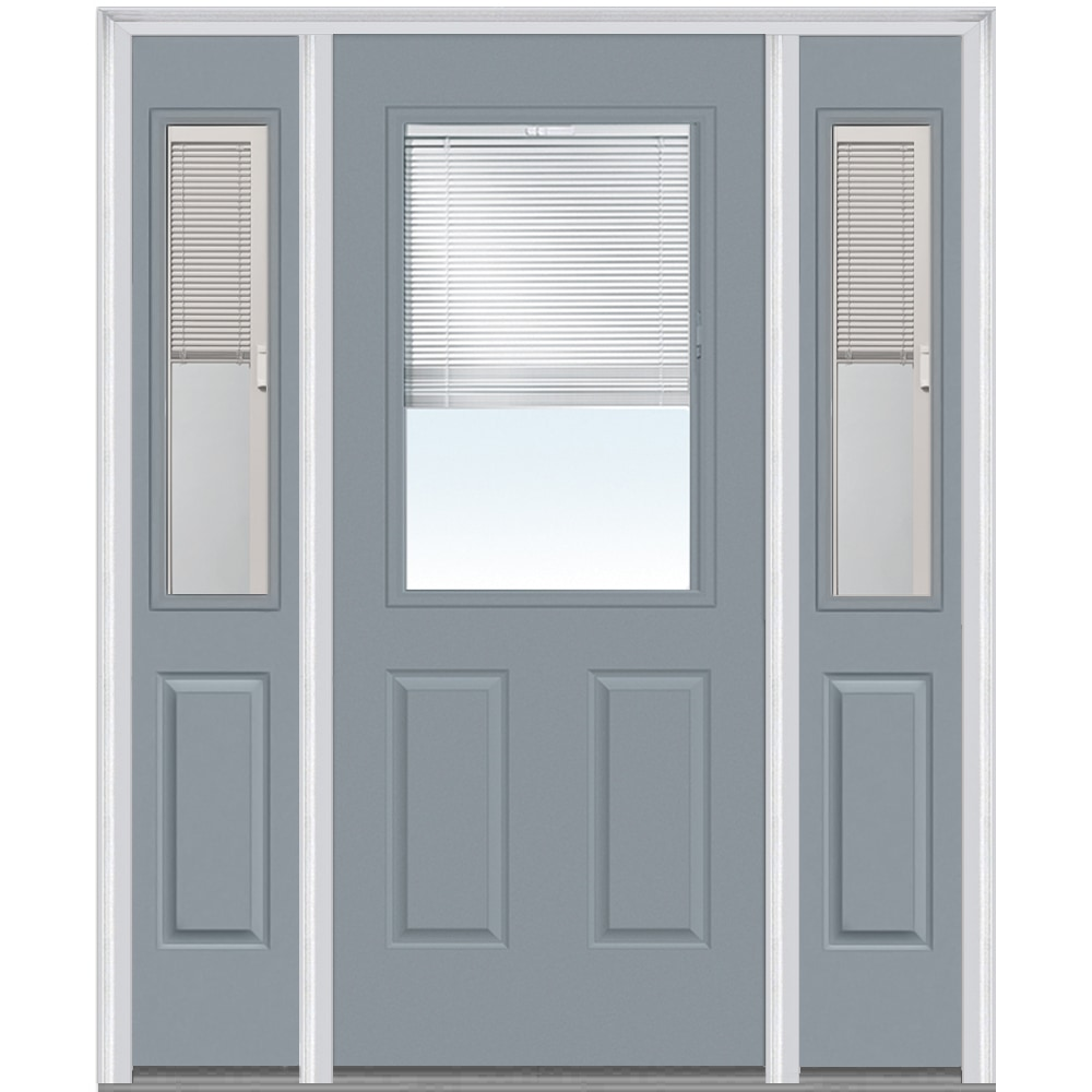 Doorbuild internal blinds collection steel prehung door for Prehung exterior doors with storm door