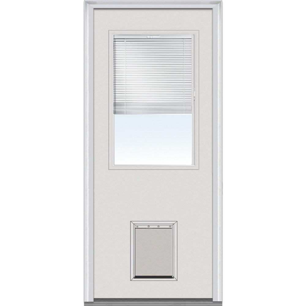 Doorbuild internal blinds collection steel prehung door for 24 inch exterior door