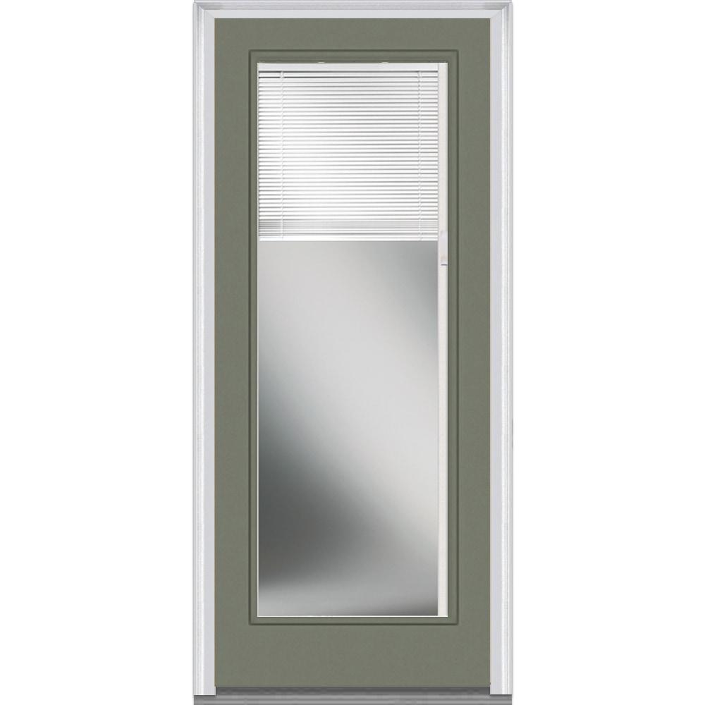 doorbuild mini blinds collection steel prehung entry door dovetail 72 quot x80 quot