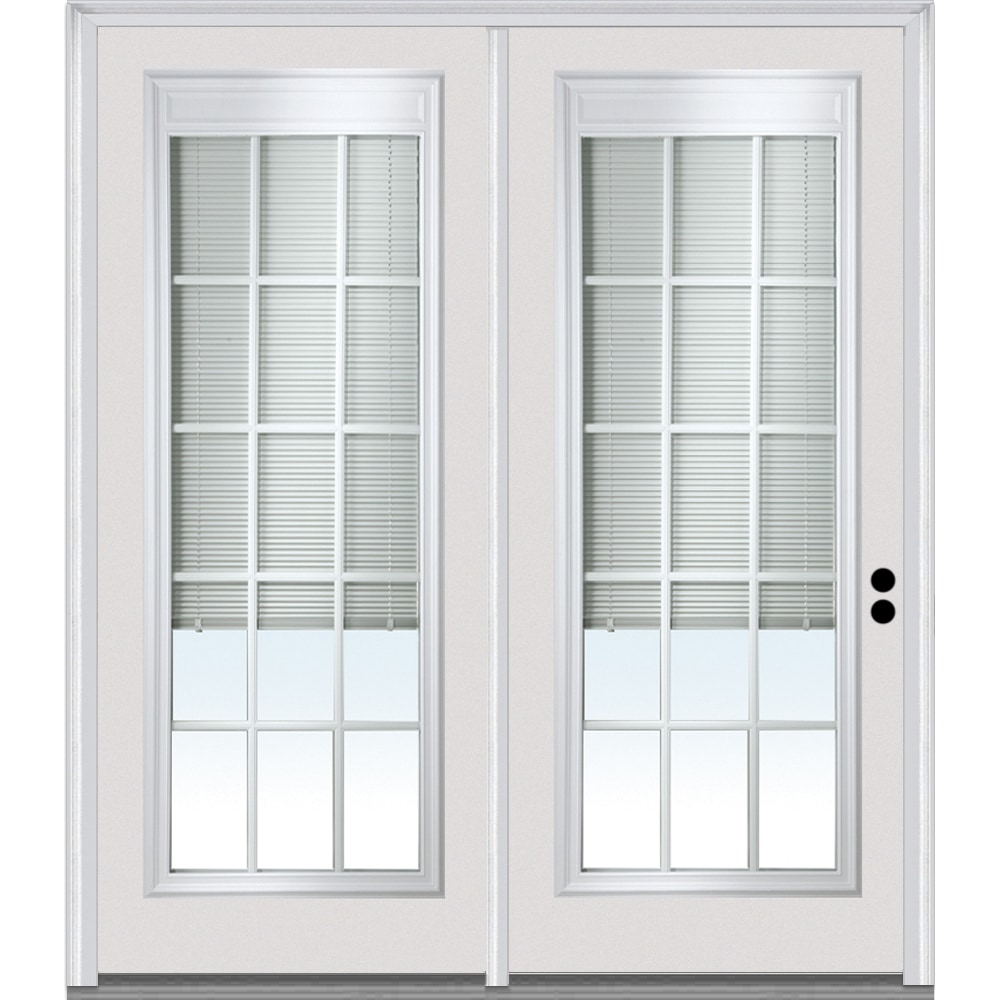 Doorbuild Internal Blinds Collection Steel Prehung Patio Door