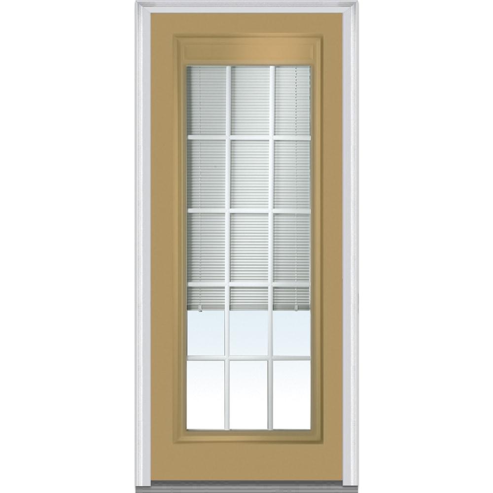 Doorbuild internal blinds collection steel prehung door for Exterior doors w glass