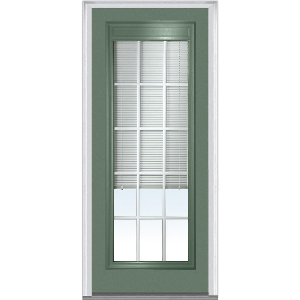 Doorbuild internal blinds collection steel prehung door for Prehung exterior door