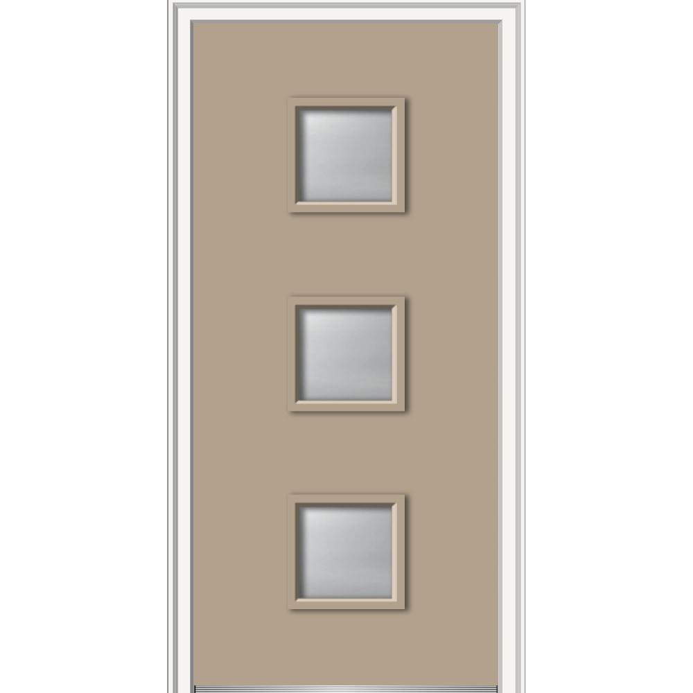 doorbuild spotlight collection fiberglass smooth prehung door