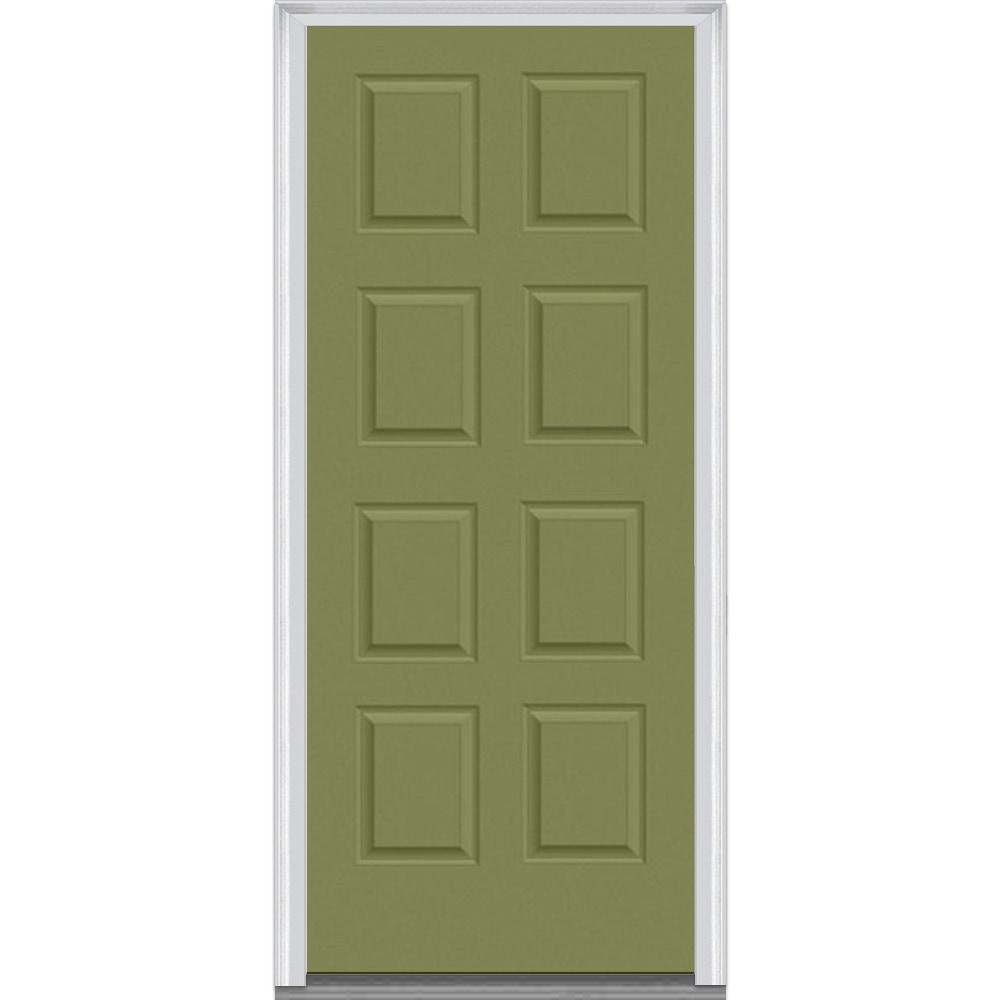 Doorbuild Panel Collection Steel Prehung Door Sage Green 375