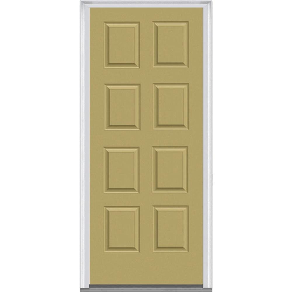 Doorbuild panel collection steel prehung door wicker for Prehung exterior door