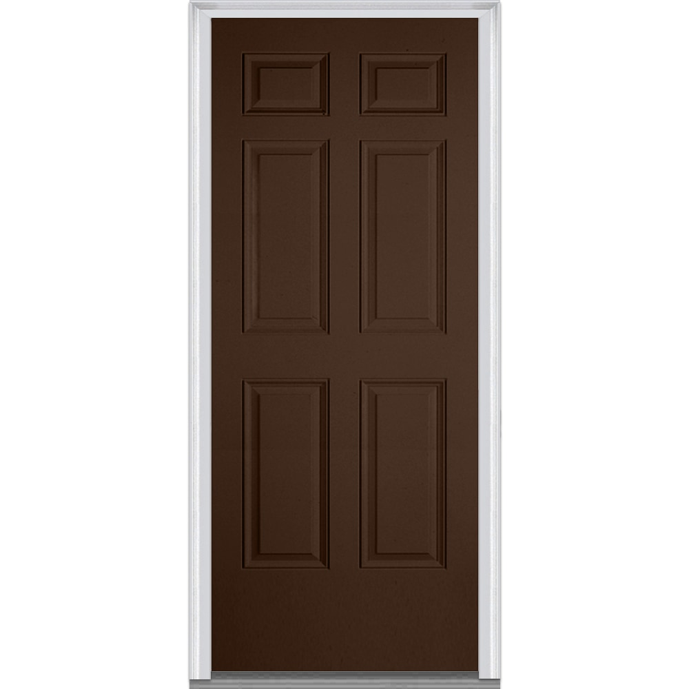 Exterior Doors Product : Doorbuild panel collection steel prehung door polished