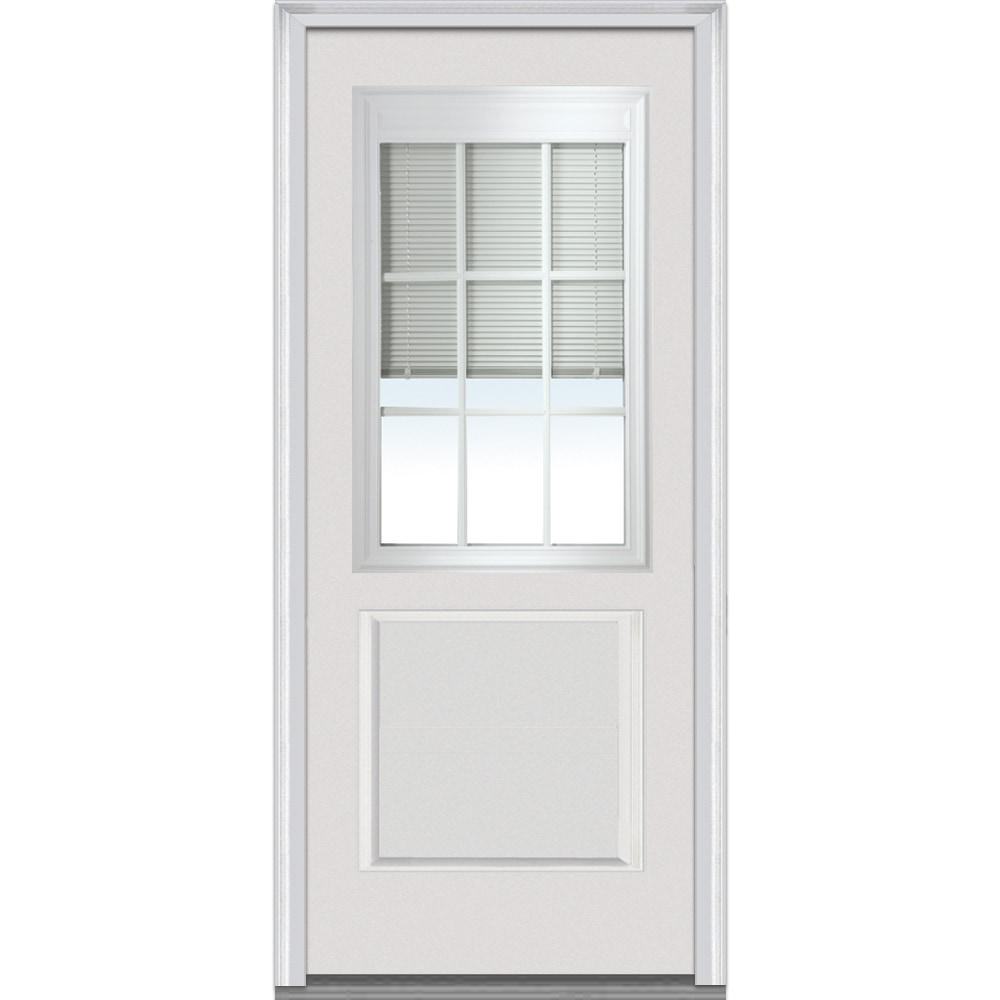 Doorbuild internal blinds collection fiberglass smooth for Exterior doors w glass
