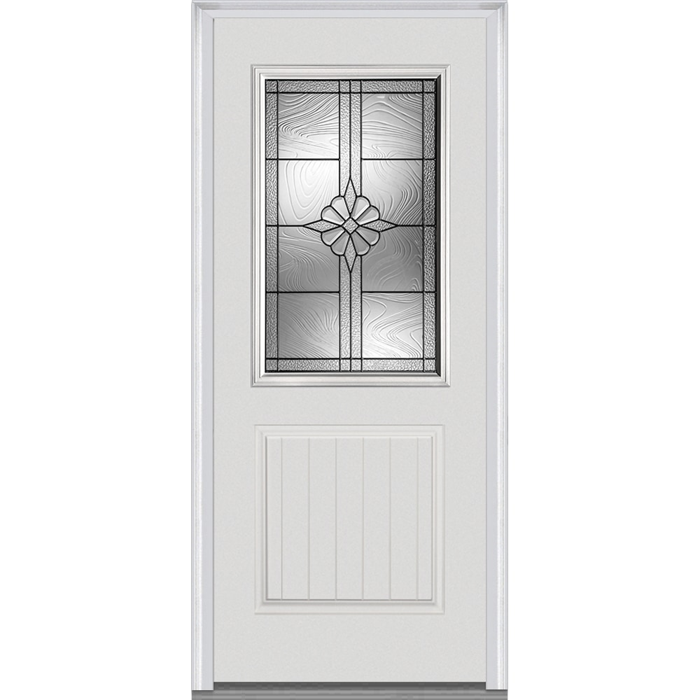 Doorbuild dahlia collection fiberglass smooth prehung for Prehung exterior door