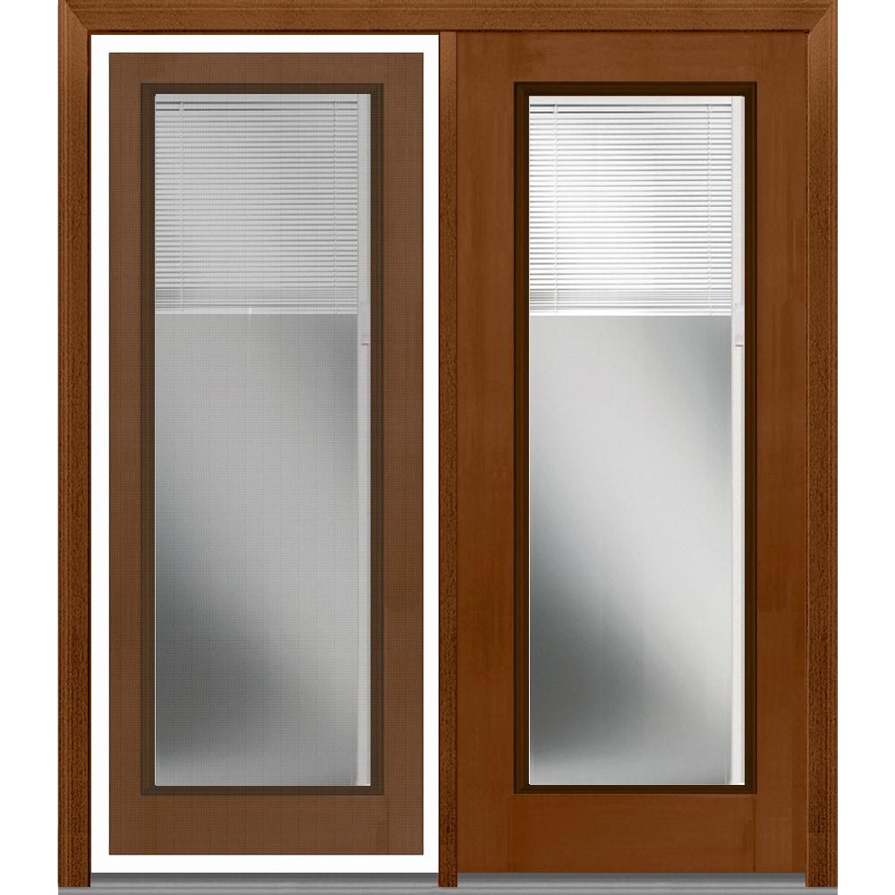 DoorBuild Internal Blinds Collection   Fiberglass Mahogany Patio