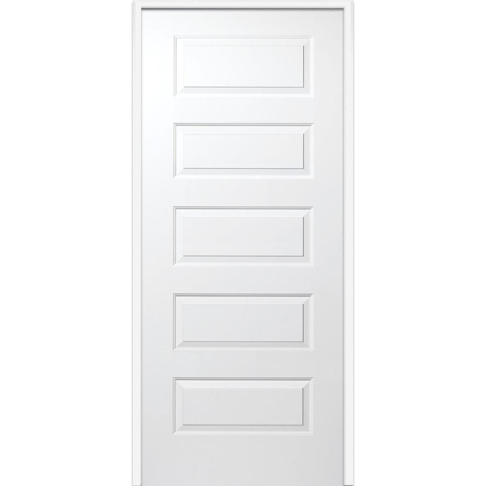 doorbuild 20 minute fire rated collection mdf prehung door primed mdf 32 in swing 5. Black Bedroom Furniture Sets. Home Design Ideas