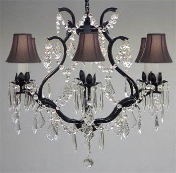 A83-BLACKSHADES/3530/6 / LED Compatible / Indoor / 6 Lights Chandeliers 0