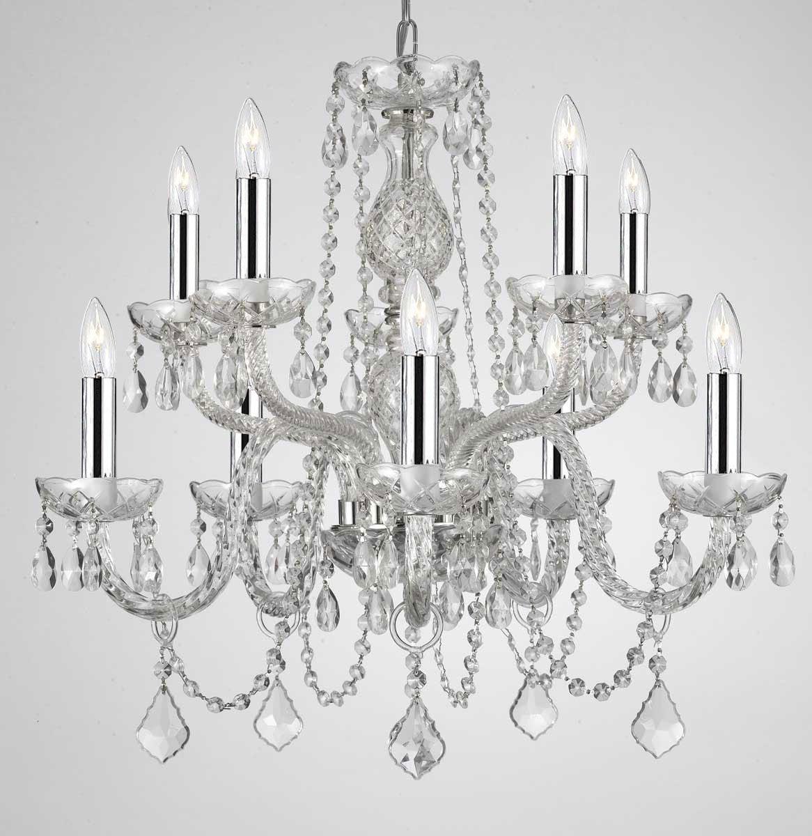 A46-CS/1122/5+5 / LED Compatible / Indoor / 10 Lights Chandeliers 0