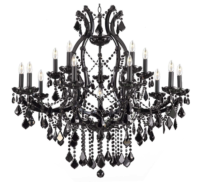 A83-BLACK/21510/15+1 / LED Compatible / Indoor / 16 Lights Chandeliers 0