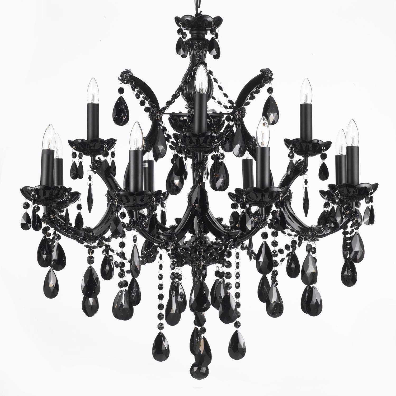 A83-BLACK/21532/12+1 / LED Compatible / Indoor / 13 Lights Chandeliers 0