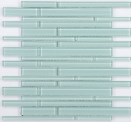 "SKY GLASS BAR MOSAICS / 12.5"" X13.5""X.25"" / GLASS Random Bar Glass Mosaics 0"