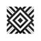 White & Black Geometric / 1.5mm / PVC / Peel & Stick