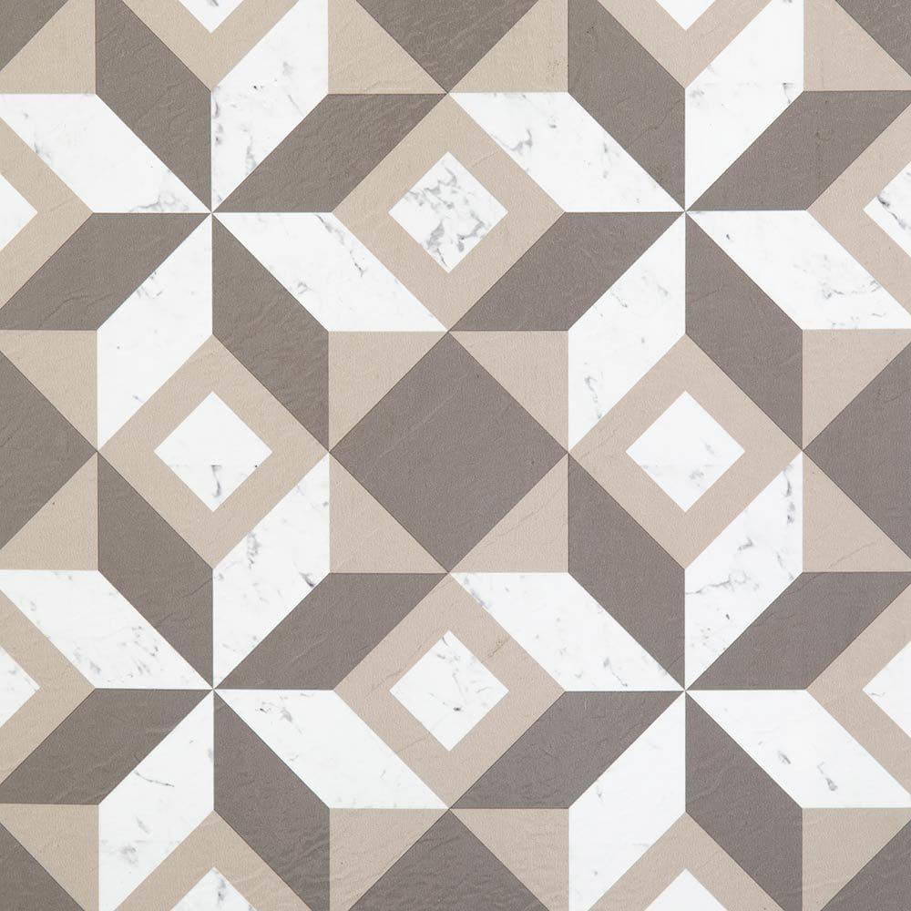 White & Grey Geometric Retro / 1.5mm / PVC / Peel & Stick Vinyl Tile - 1.5mm PVC Peel & Stick - Retro Collection 0