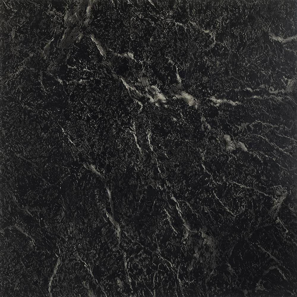 Black With White Marble / 1.2mm / PVC / Peel & Stick Vinyl Tile - 1.2mm PVC Peel & Stick - Sterling Collection 0