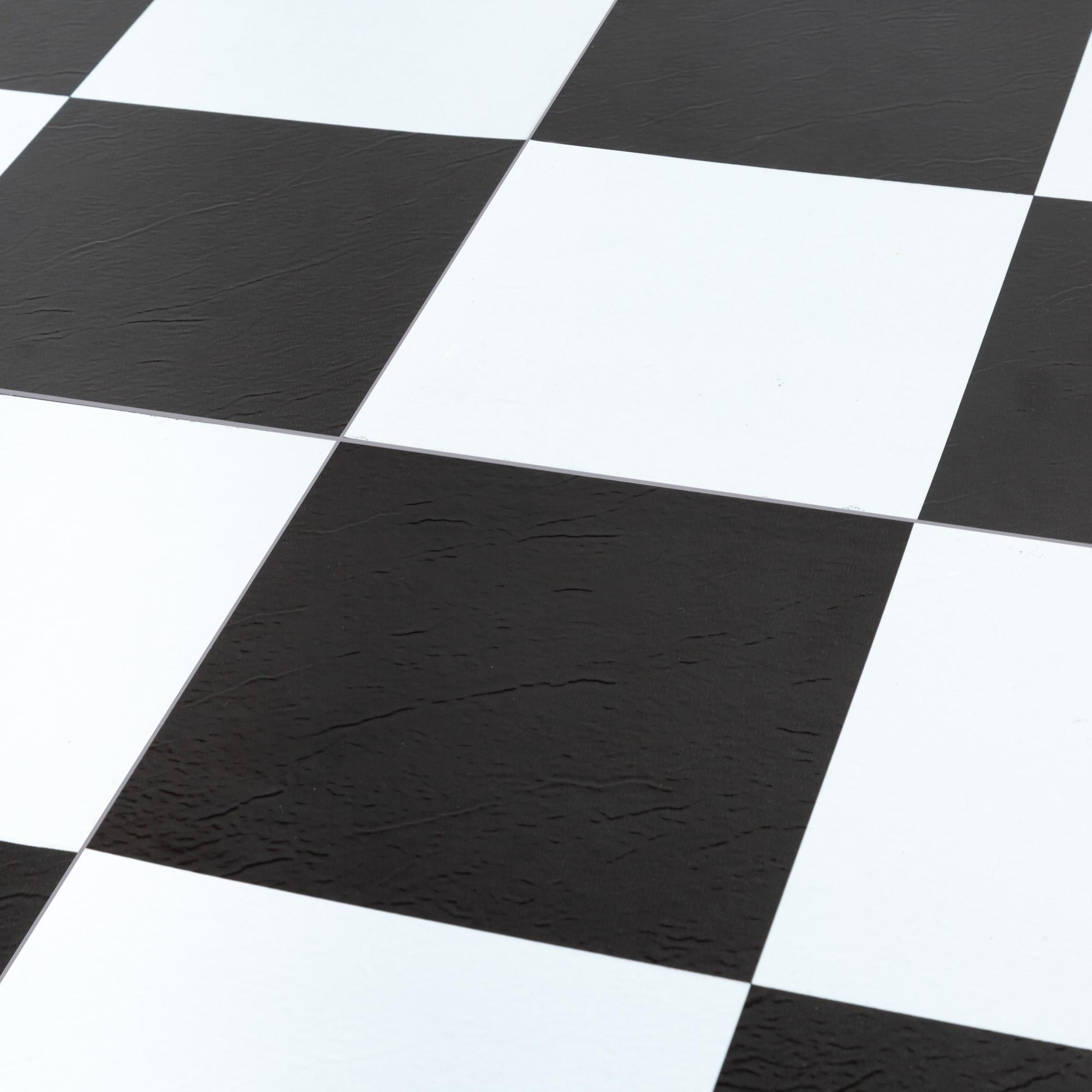 Black & White / 1.2mm / PVC / Peel & Stick Vinyl Tile - 1.2mm PVC Peel & Stick - Sterling Collection 0