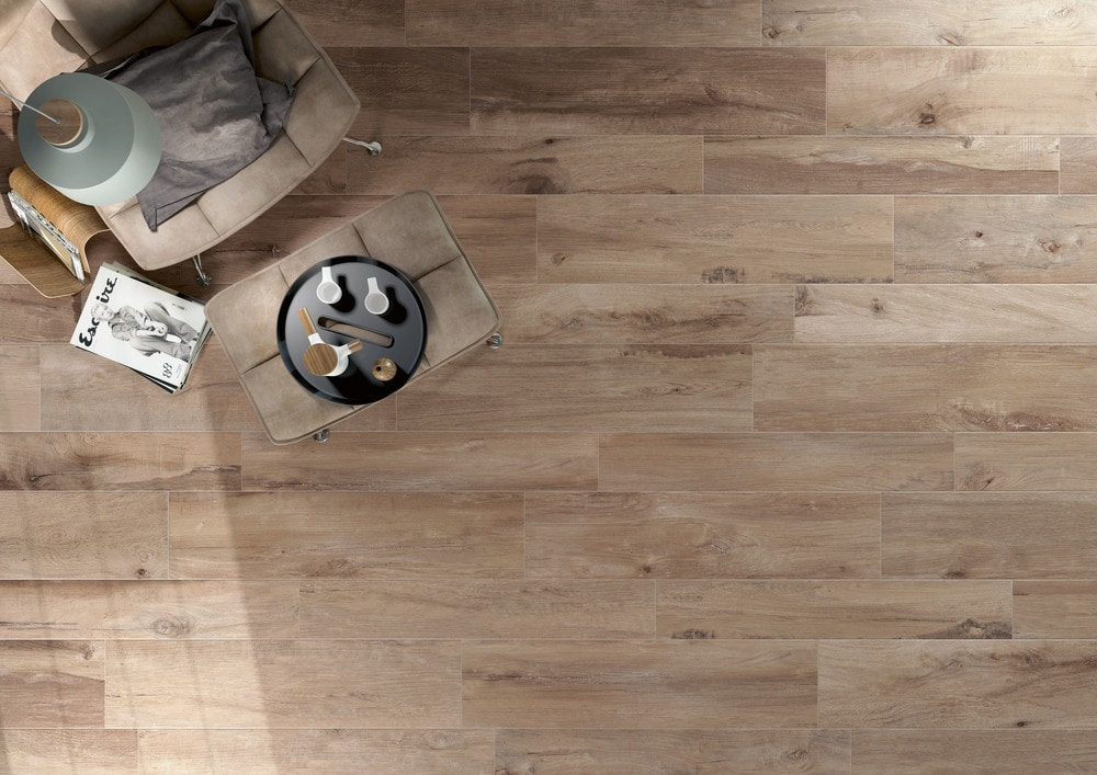 Sessemo Trento Series Rectified Self Leveling Wood Look Porcelain