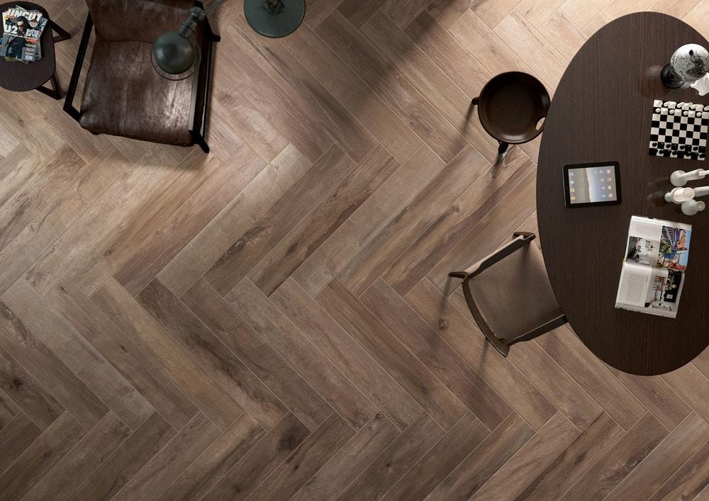 Sessemo Trento Series Rectified Self Leveling Wood Look Porcelain