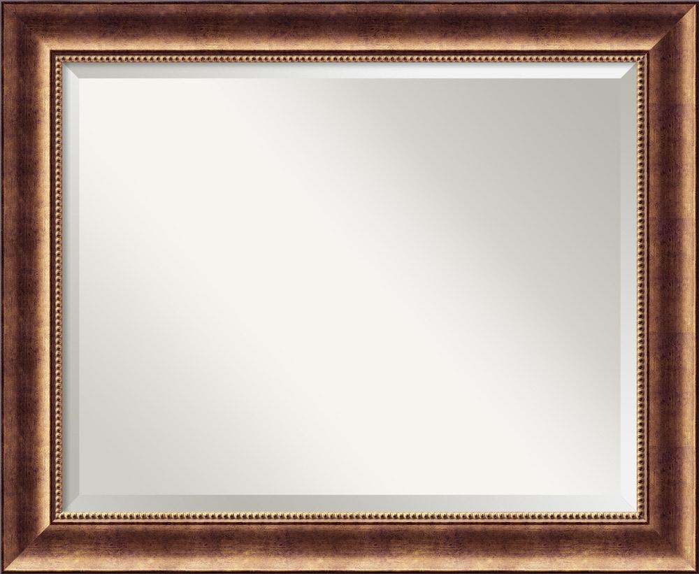 Amanti art manhattan bronze wall mirror large 34 x 28 for Mirror 34 productions