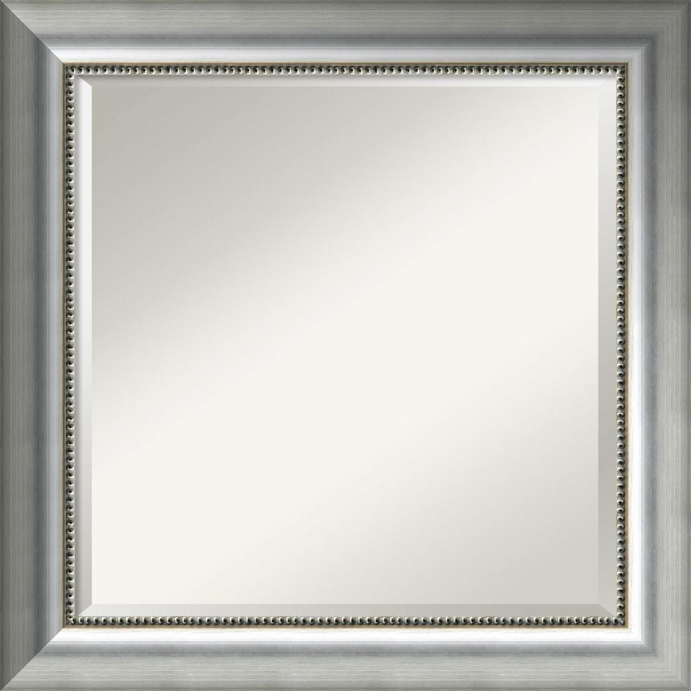 alexandria whitewash 33 x 27inch large wall mirror