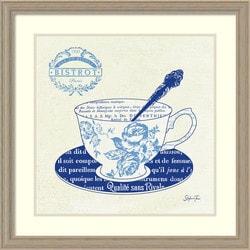 Amanti Art - Stefania Ferri 'Blue Cups I' Framed Art Print 27x27-inch