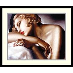 Amanti Art - Tamara de Lempicka 'La Dormeuse' Framed Art Print 25 x 21-inch