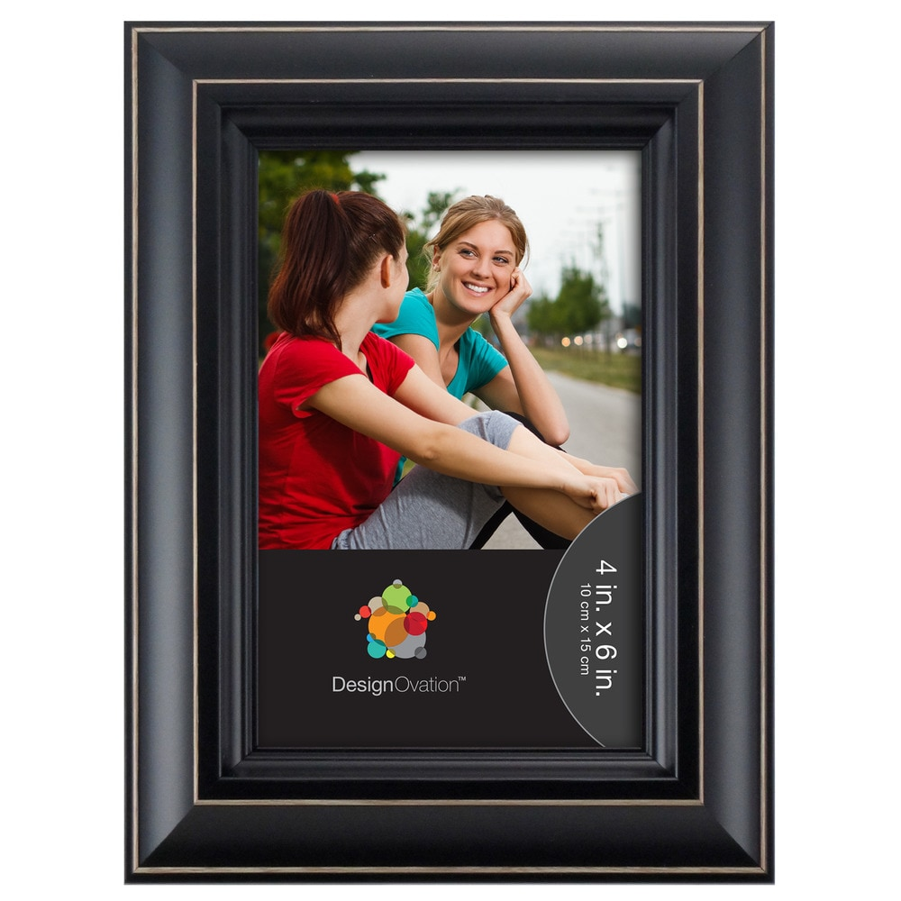 Designovation Distressed Black Casual Picture Frame Photo