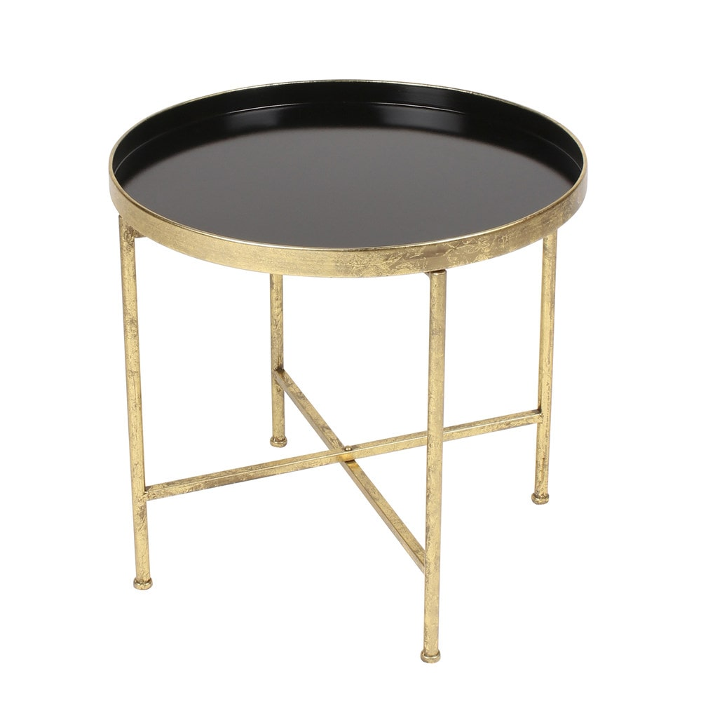 100 Metal Tray Coffee Table Pradet Accent Black