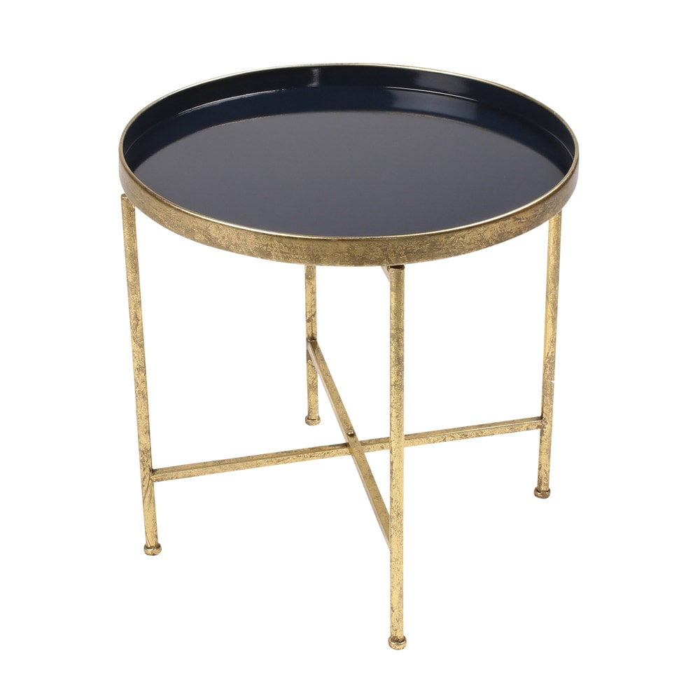 Kate And Laurel Deliah Round Metal Accent Table End Table