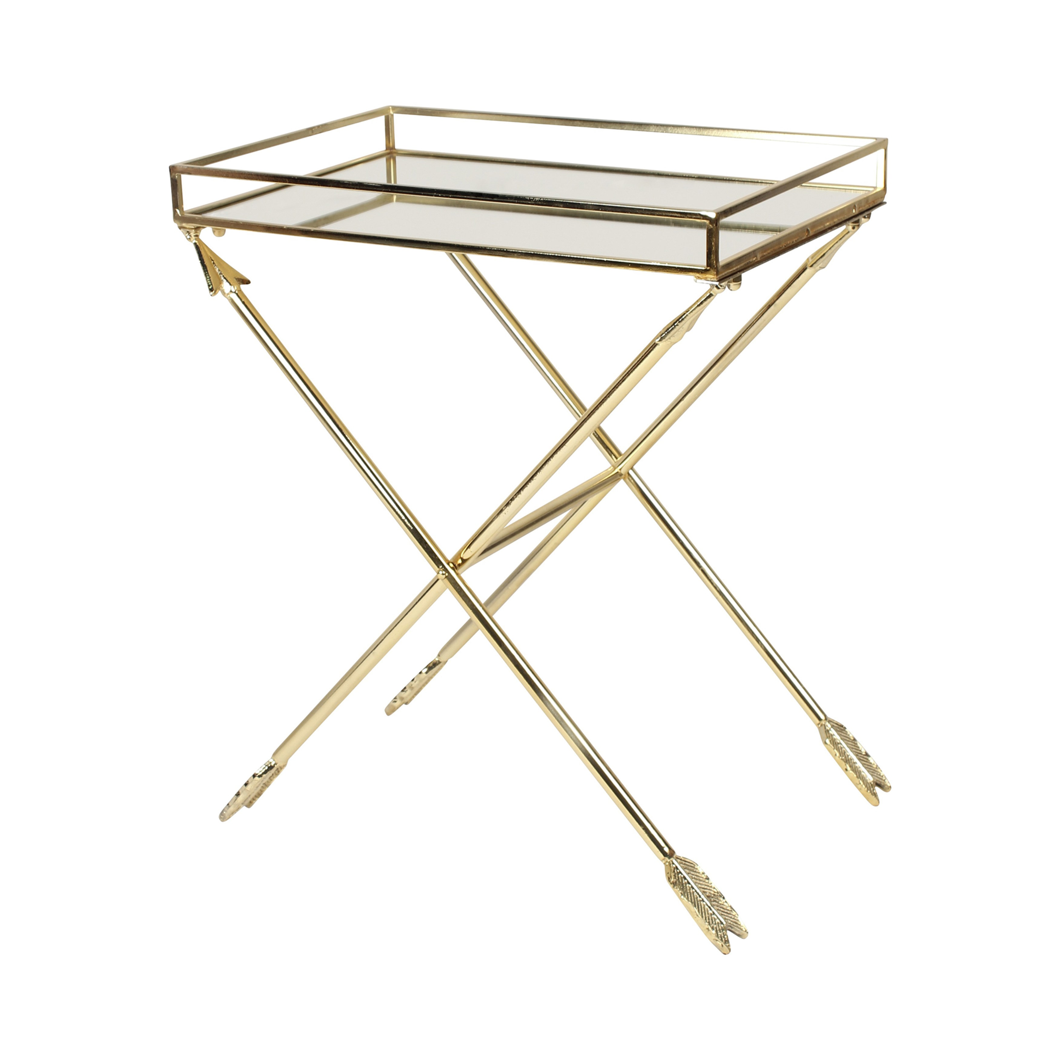 Kate and Laurel Madeira Arrow Metal Table Accent Table 1 Gold