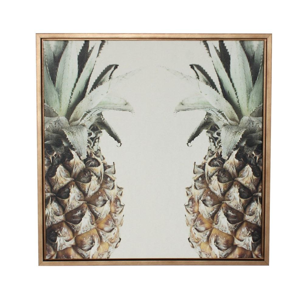 Framed Canvas Wall Art designovation pineapple gold framed canvas wall art framed canvas