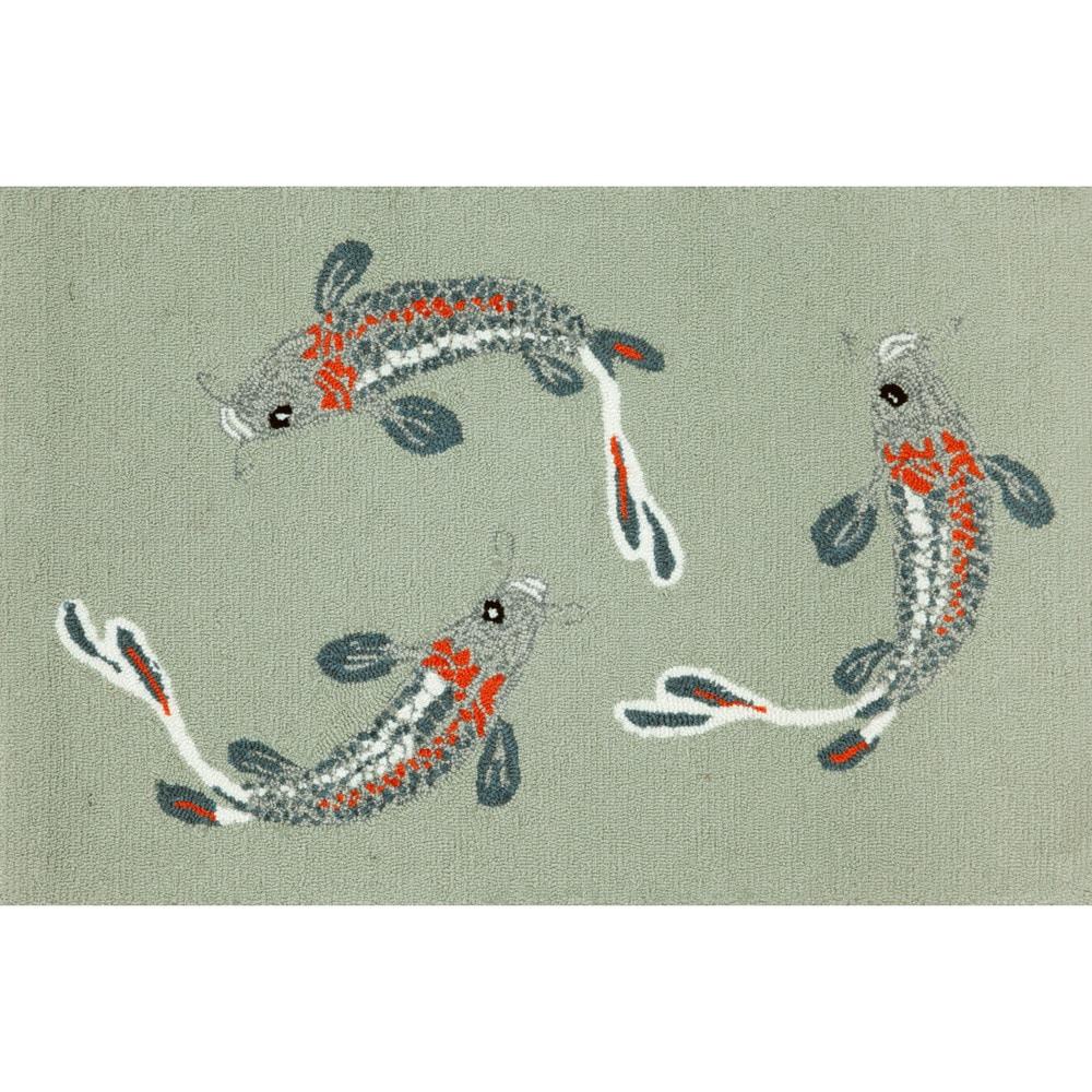 Maneck Frontporch Collection 'Koi Fish' Indoor/Outdoor Rug