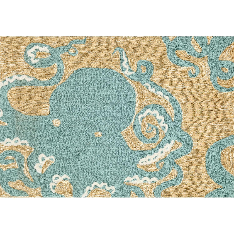 """Octopus - Aqua / 20""""X30"""" Frontporch Collection 'Octopus' Indoor/Outdoor Rug 0"""