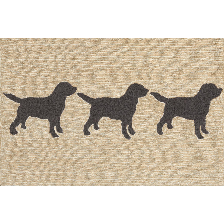 "Doggies - Black / 20""X30"" Frontporch Collection 'Doggies' Indoor/Outdoor Rug 0"