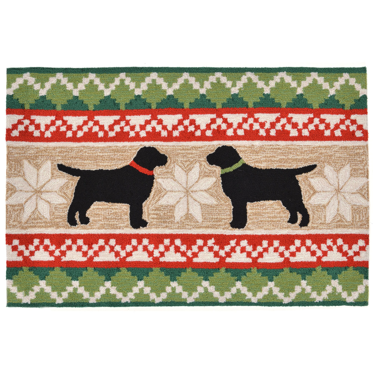 """Nordic Dogs - Neutral / 20""""X30"""" Frontporch Collection 'Nordic Dogs' Indoor/Outdoor Rug 0"""