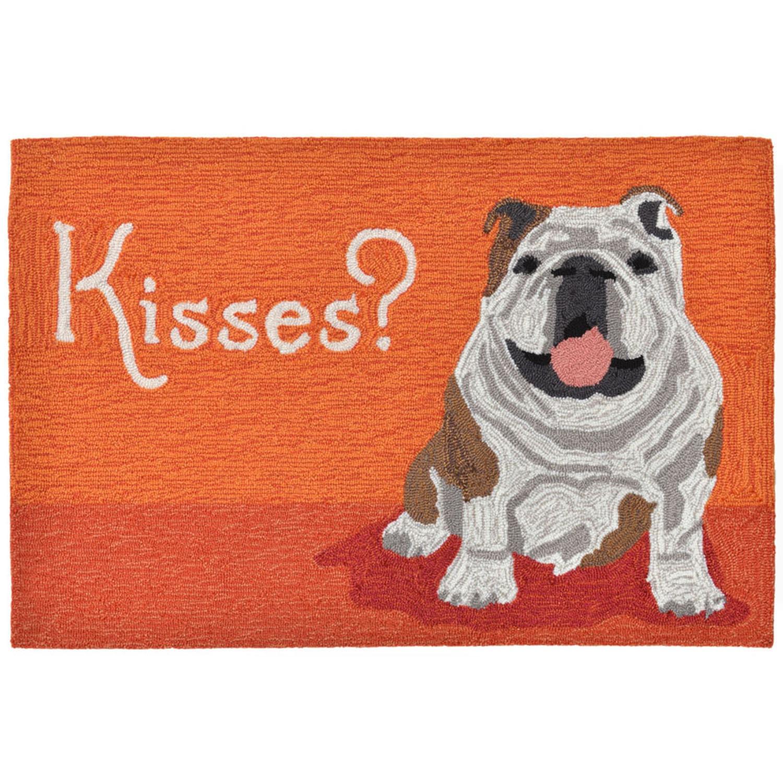 """Wet Kiss - Orange / 20""""X30"""" Frontporch Collection 'Wet Kiss' Indoor/Outdoor Rug 0"""