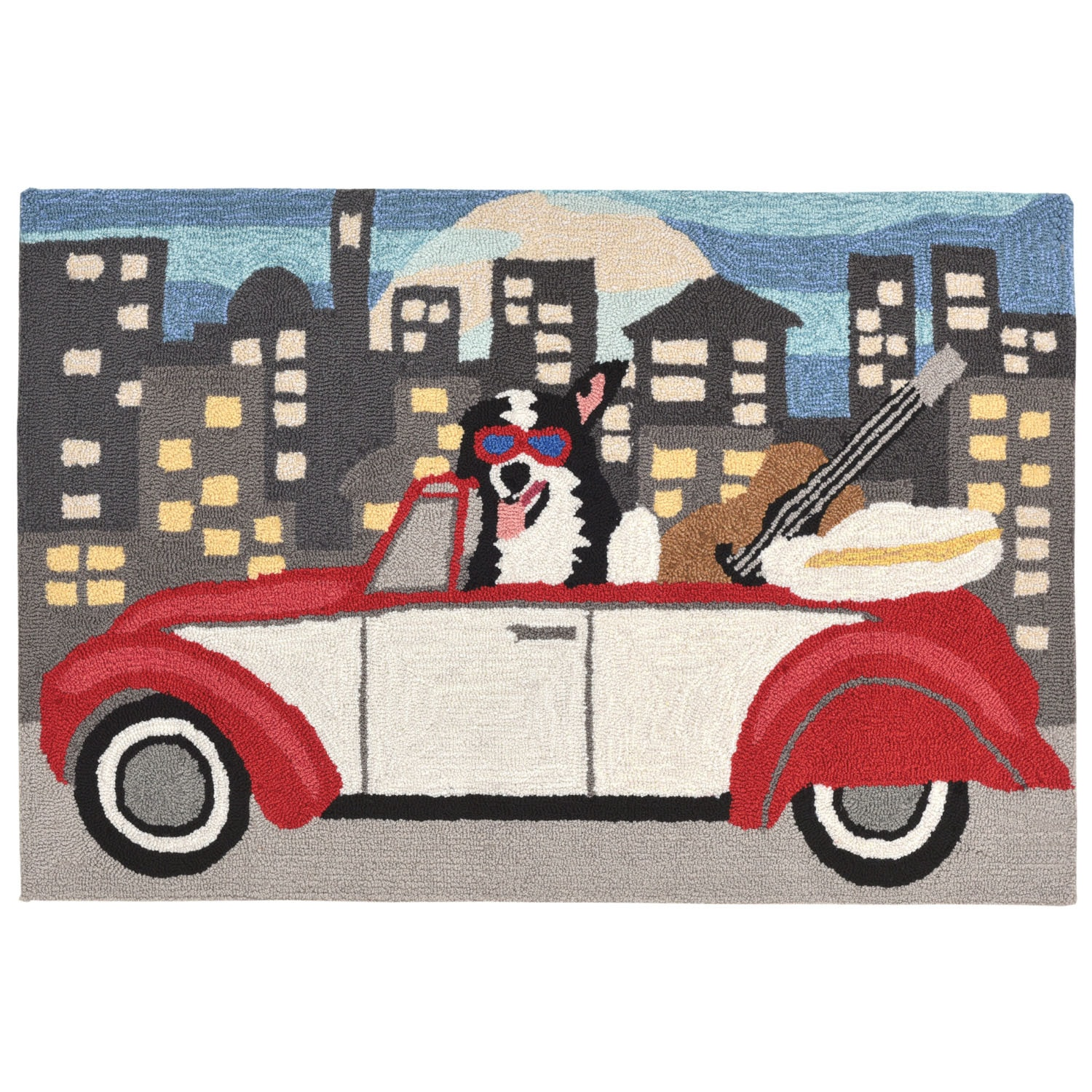 """City Dog - Night / 20""""X30"""" Frontporch Collection 'City Dog' Indoor/Outdoor Rug 0"""