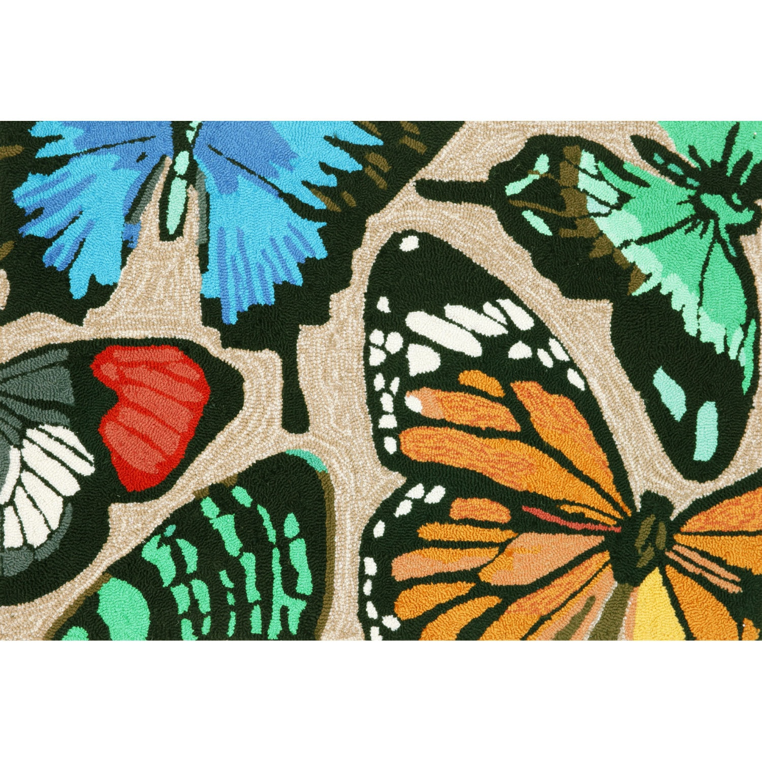 """Butterfly Dance - Multi / 24""""X36"""" Frontporch Collection 'Butterfly Dance' Indoor/Outdoor Rug 0"""