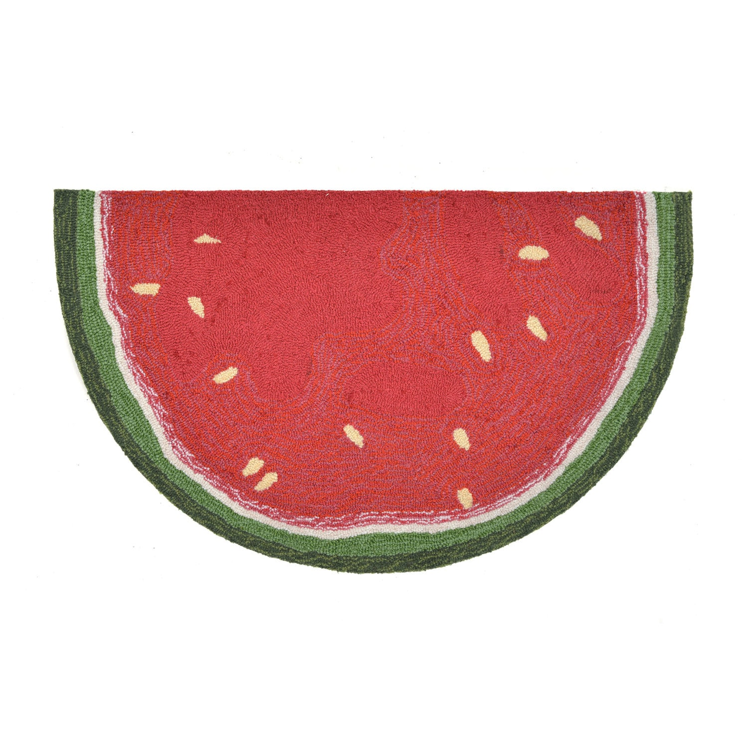"""Watermelon Slice - Red / 20""""X30"""" 1/2 RD Frontporch Collection 'Watermelon Slice' Indoor/Outdoor Rug 0"""