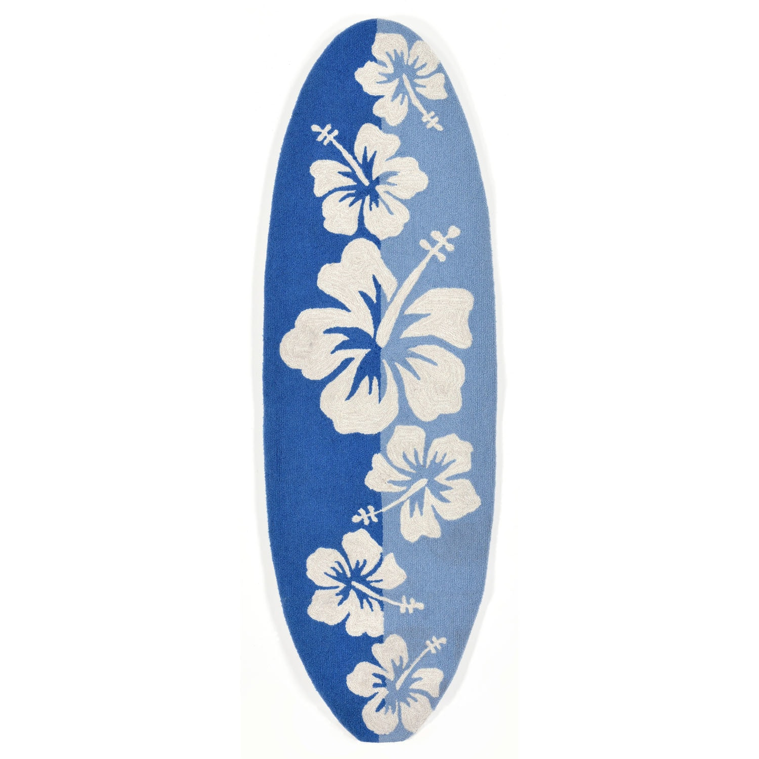 """Floralboard - Blue / 23""""X72"""" Frontporch Collection 'Floralboard' Indoor/Outdoor Rug 0"""