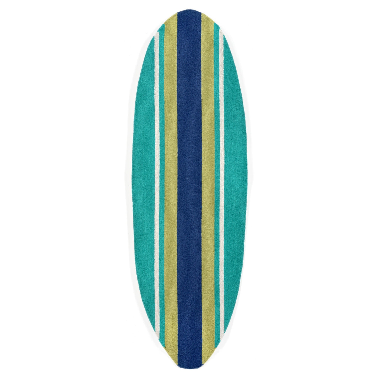 """Stripeboard - Teal / 23""""X72"""" Frontporch Collection 'Stripeboard' Indoor/Outdoor Rug 0"""