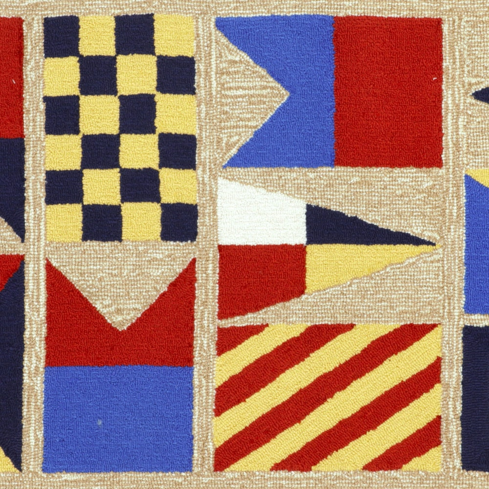 Signal Flag Rug: Maneck Frontporch Collection 'Signal Flags' Indoor/Outdoor